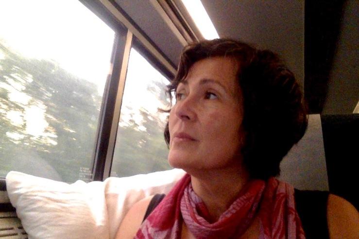 I'm on a train